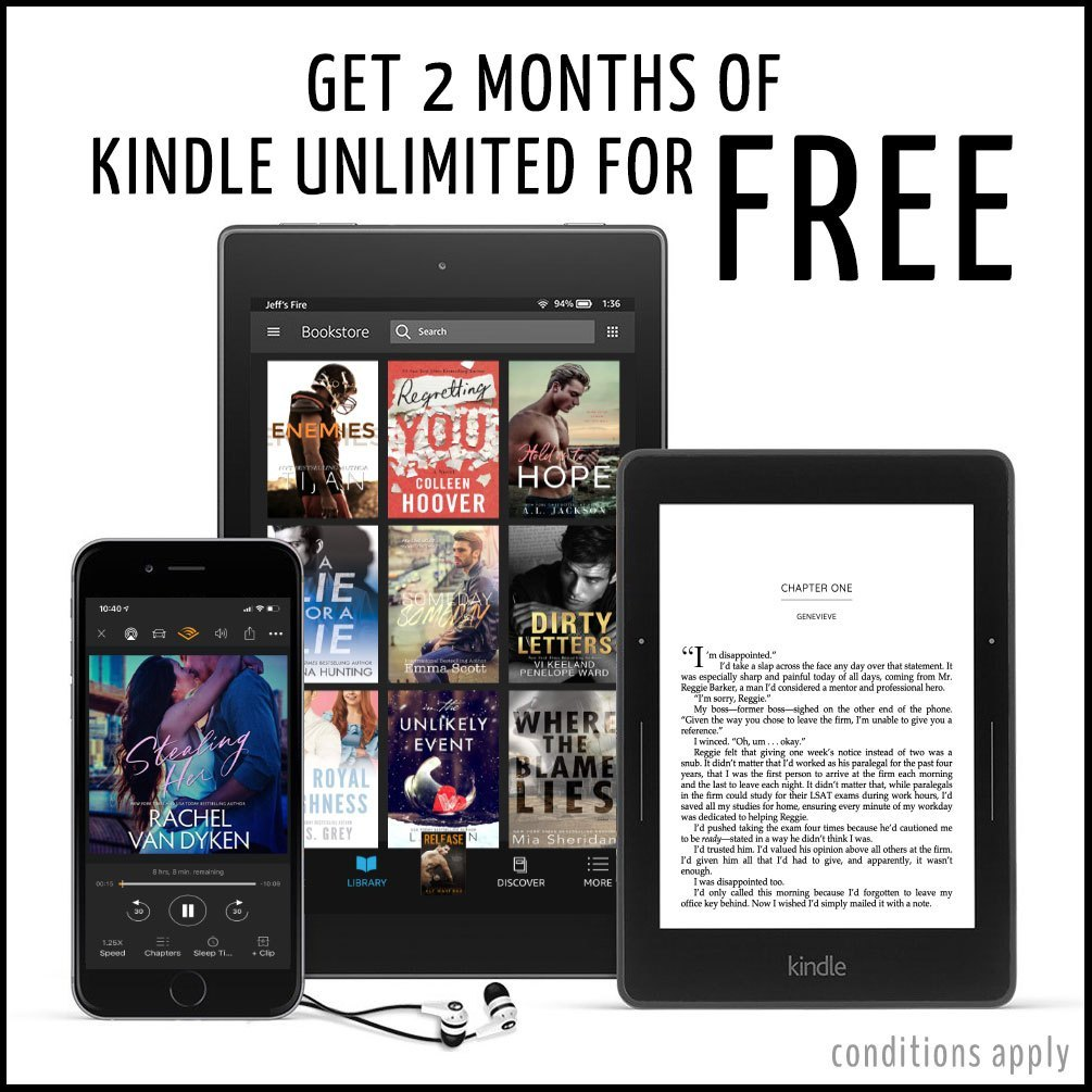 Kindle Unlimited 2 months free banner